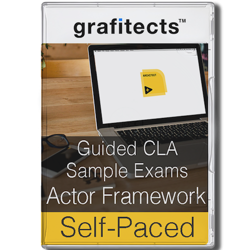 Guided CLA Sample Exams using Actor Framework